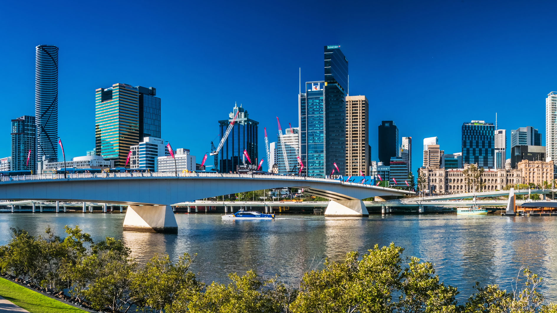 South Bank, Brisbane River and the CBD, Queensland